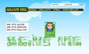 The Homepage screenshot of BeingMe.