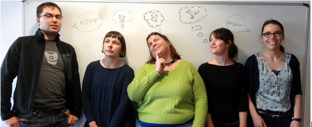 The team, from left to right: Dmitrijs Milajevs, Shauna Concannon, Pollie Barden, Sophie McDonald, and Katja Knecht